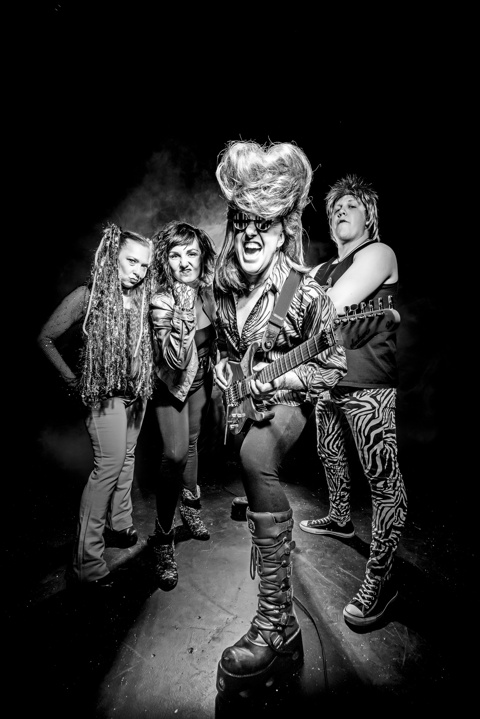 Ronnie Raygun | Eighties Band | B&W | Hi-Res